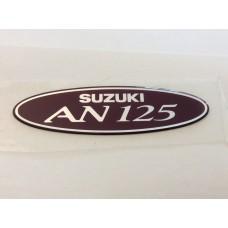 Suzuki AN125 Frame Cover Emblem (Maroon colour) 68132-20E40-Y9M