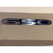 """Suzuki XF650 1999-2001 """"650"""" Emblem Framecover 68131-04F10-M2S"""