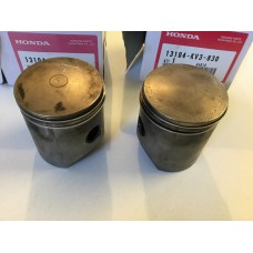 Honda nsr250rsp pair of used pistons and rings 13104-kv3-830
