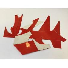 Suzuki ay50 emblem set, red 68130-35eb0