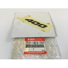 """Suzuki an400 burgman emblem, """"400"""" 68131-14g10-17u"""